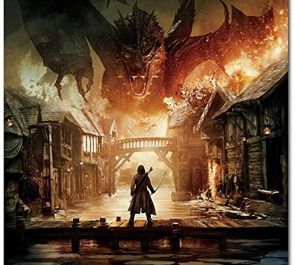 Smaug the dragon decimates Esgaroth